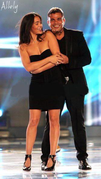 Amr Diab With Model Natalie Martinez World Music Awards Usa World Music Awards Music Cheb
