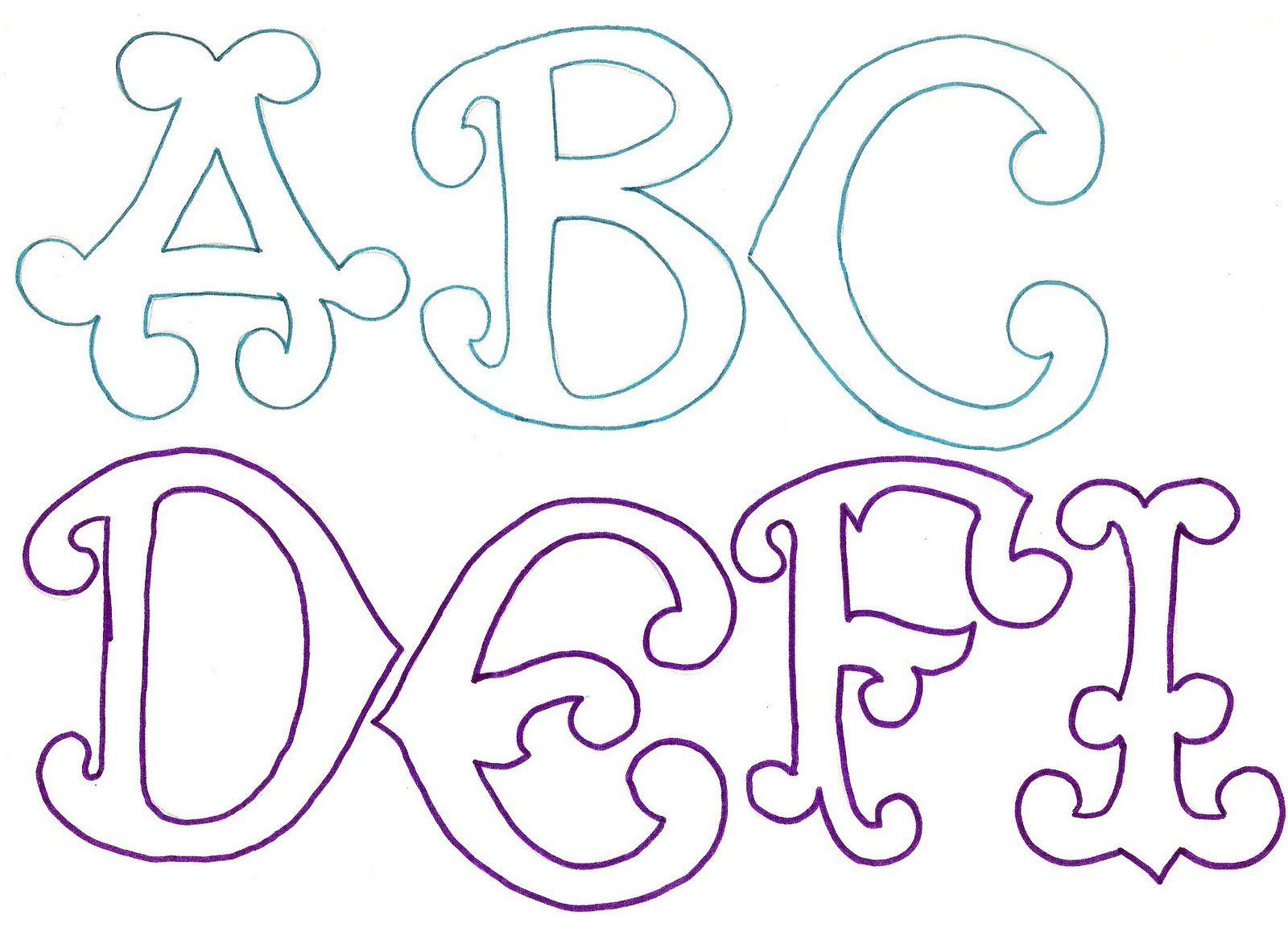 moldes de letras del abecedario para carteles imagui