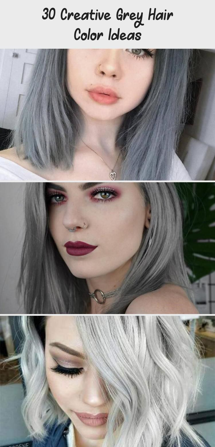 30 Creative Grey Hair Color Ideas HairStyles NailStyles