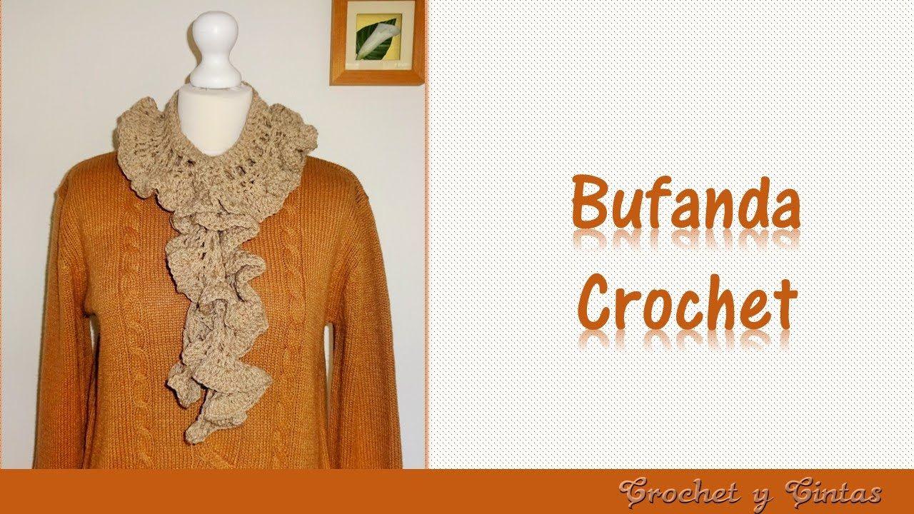 Bufanda fruncida con abanicos a crochet | BUFANDAS PARA GRANDES Y ...