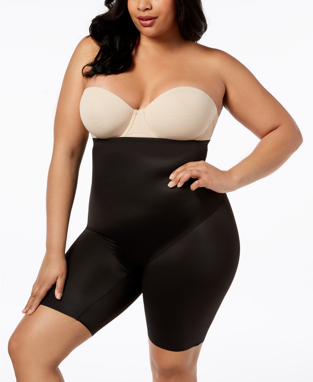 Miraclesuit Women S Extra Firm Tummy Control High Waist Real Smooth Thigh Slimmer 2759 Shapewear Women Macy Women Plus Size Outfits Dresses With Leggings