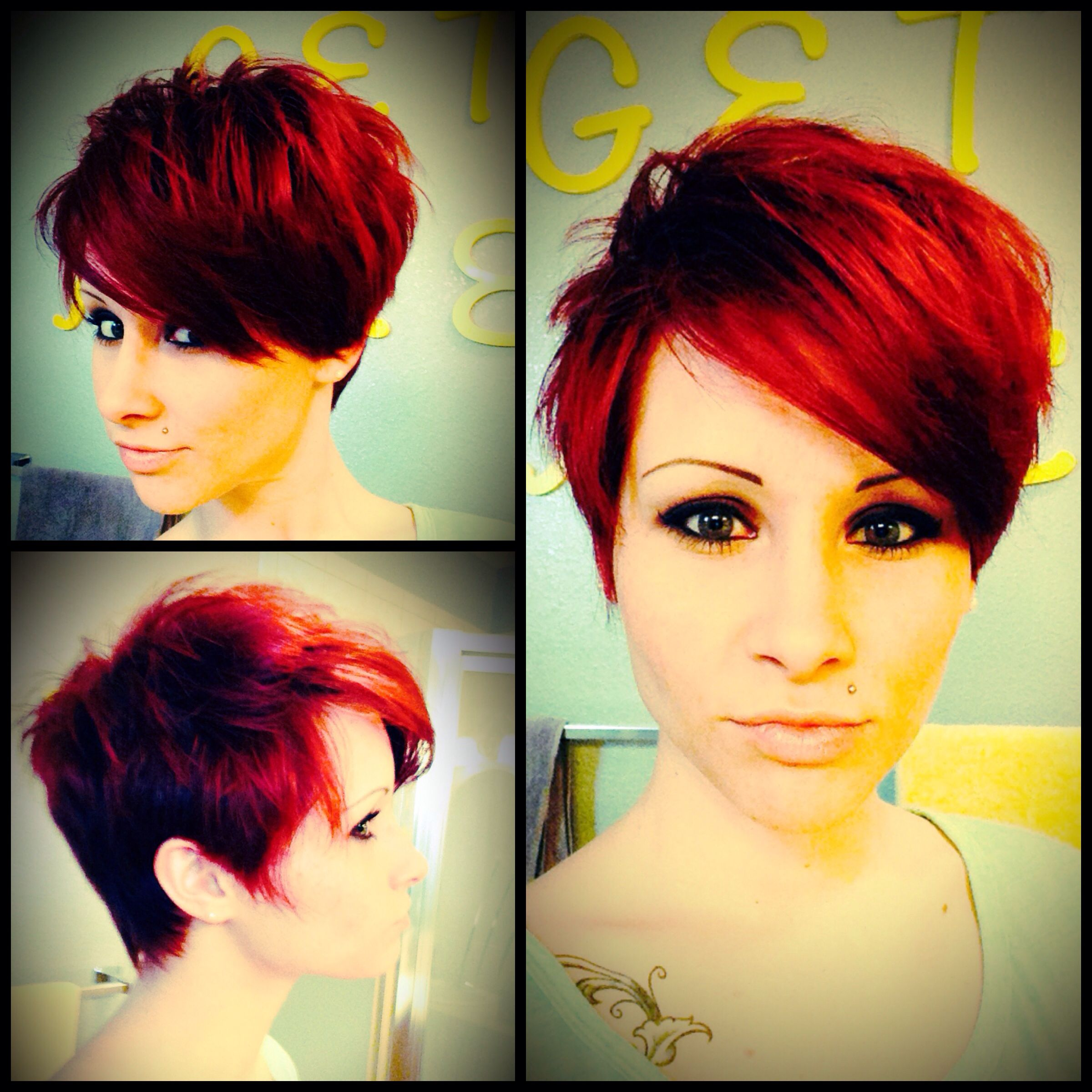 Red pixie cut hairstyles pinterest red pixie cuts red pixie