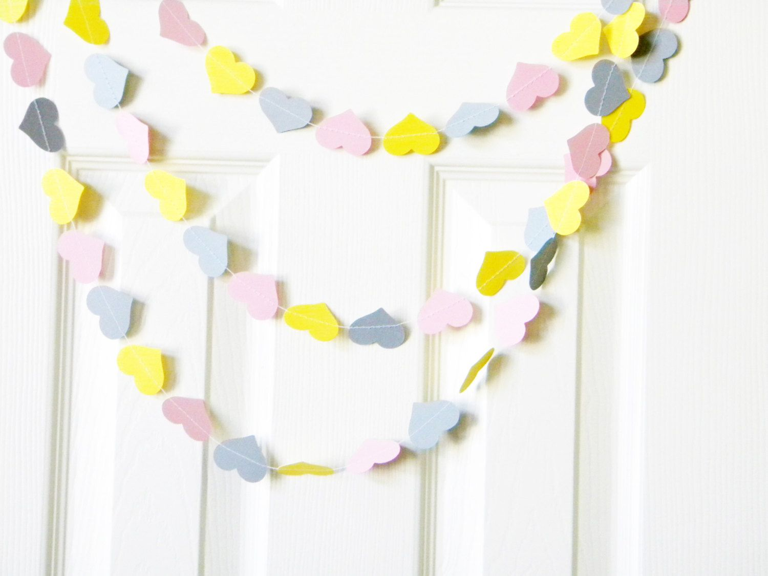 hearts banner for baby shower - easy!