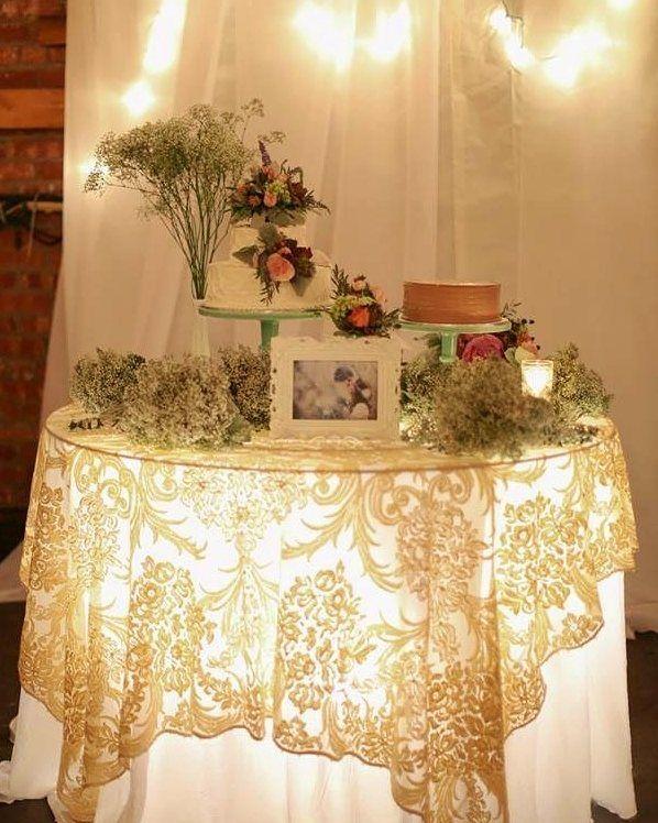 Loving this #tableglow under the #wedding #cake !: #piinterest ...