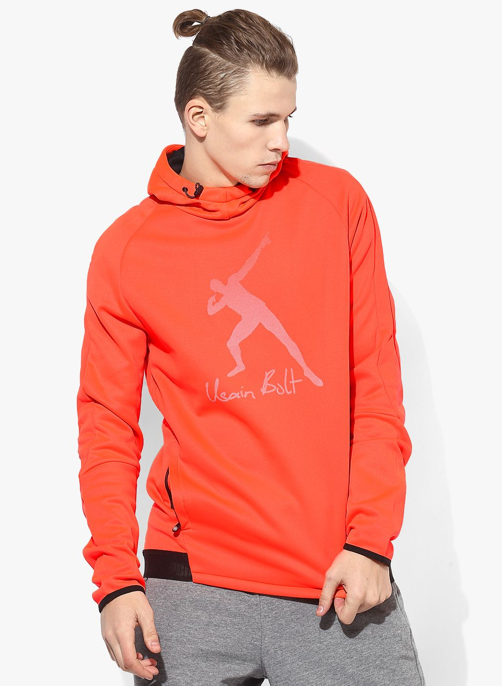 80e15ca5 Buy Puma Ub Evostripe Logo Orange Hoodie for Men Online India, Best Prices,  Reviews | PU102MA01LECINDFAS