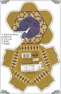Paper Chocolate Frog