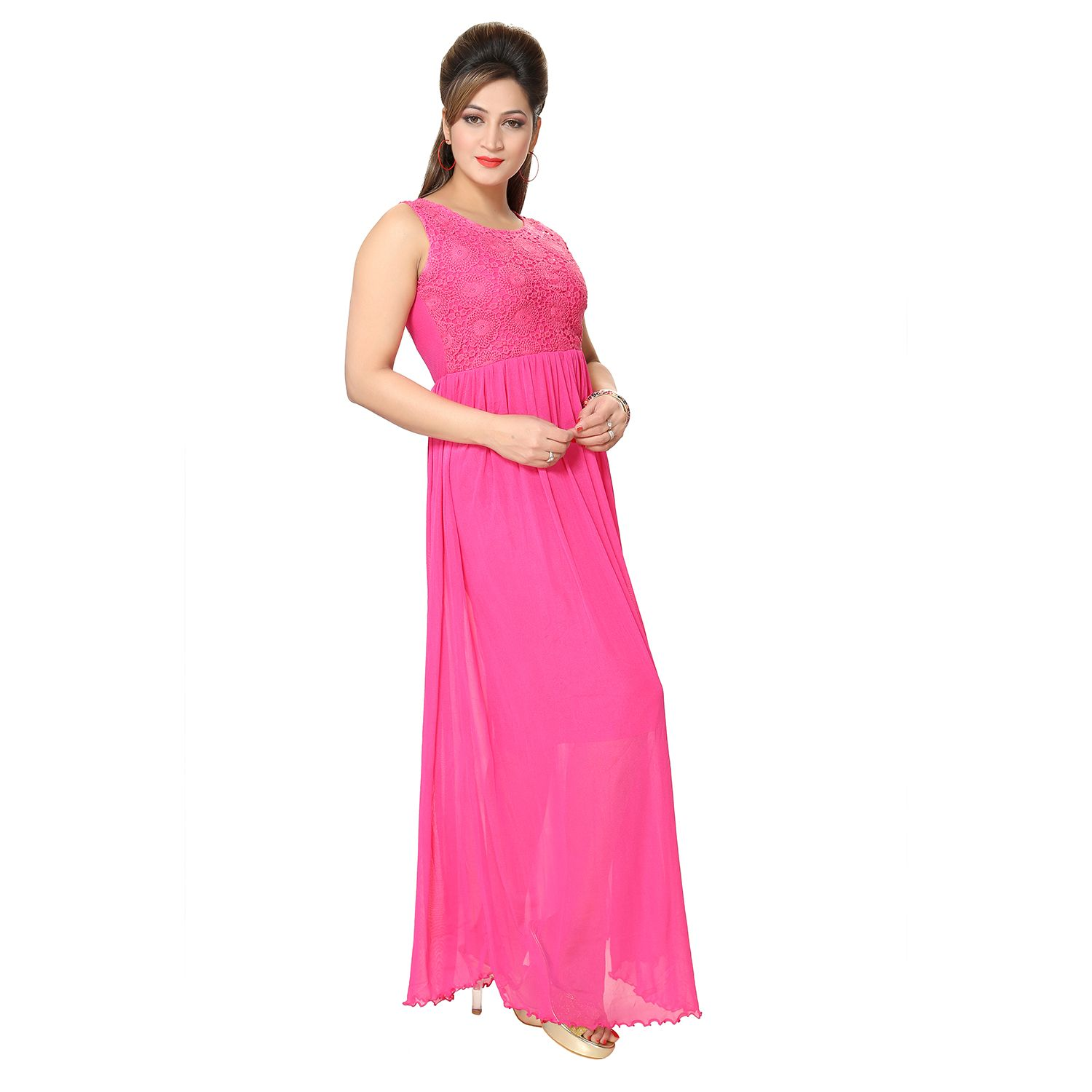 1d78fb02a222 Buy Kaira Womens Western long Pink Color Dress 4006394 at lowest price