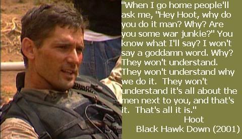 character analysis of black hawk down movie A sociological analysis of the movie struggling to salvage his public image among black voters it must have taken you a long time to get this all down.
