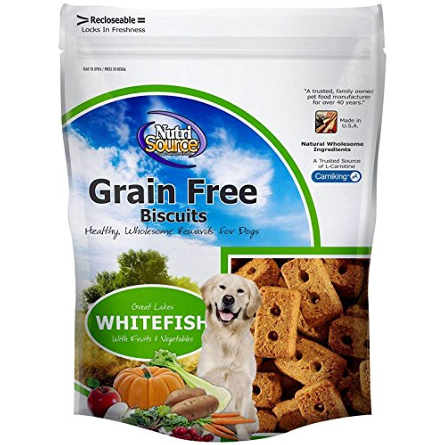Nutri Source Grain Free Fish Biscuit 14 oz You could