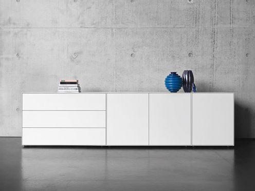 Schöne Sideboards weißes sideboard bringt stauraum mit schubkästen und türfächern