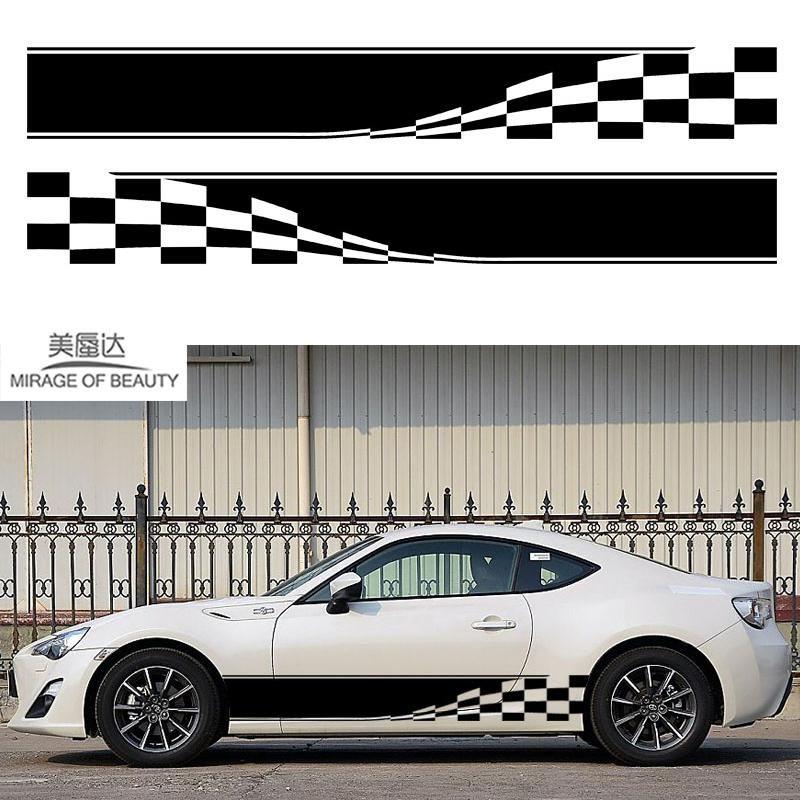 2x Checkered Flag Dynamic Movement To Accelerate Forward Racing Sport Car Motorhome Caravan Travel Trailer Campervan Vinyl D Sports Cars Car Sticker Design Car