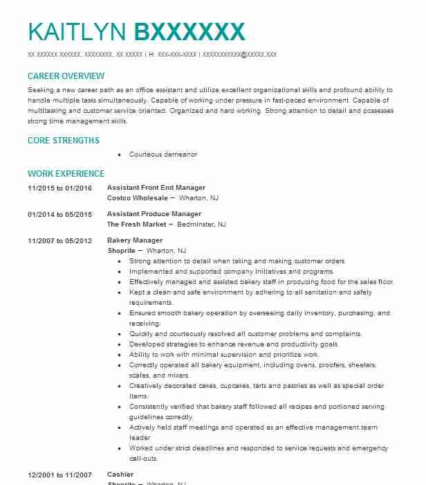 Pin By Anna Shirley On Cv    Costco Resume Examples