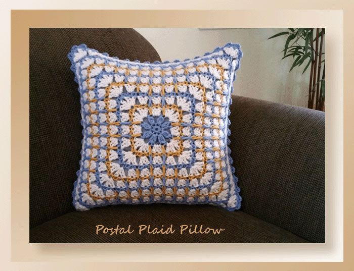 Postal Plaid Pillow CAL Part 2 by Crochet Memories | **Crochet ...