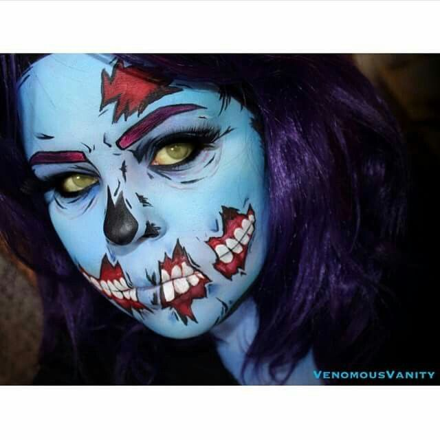 Zombie make up.