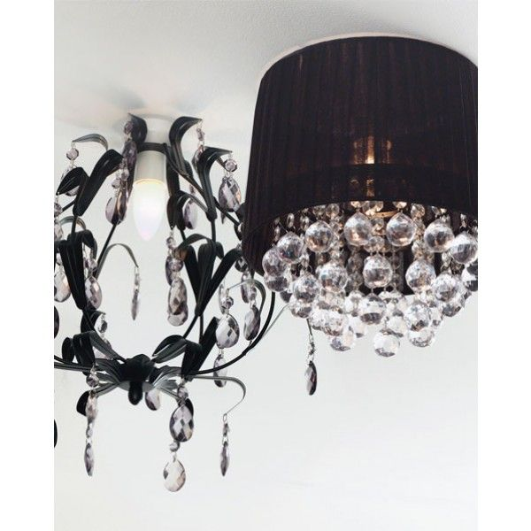 Geneve diy chandelier in black boudoir pinterest modern geneve diy chandelier in black aloadofball Gallery