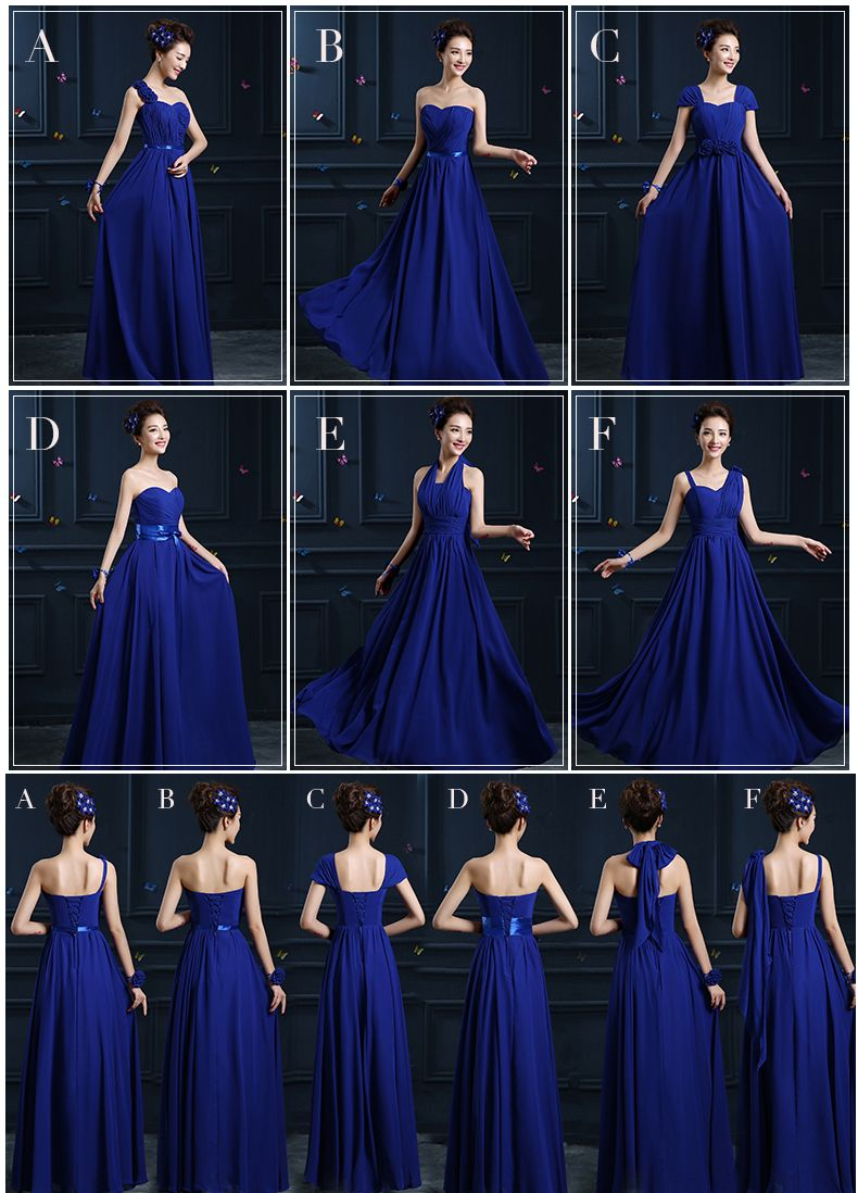 Bridesmaids Solid Royal Blue Dresses Royal Blue Bridesmaid Dresses Brides Maid Dresses Blue Blue Wedding Dresses