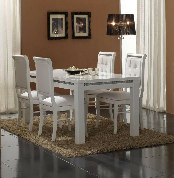 Tisch mit Stühlen bilder stehlampe braun comedores Pinterest - wohnzimmer braun ideen