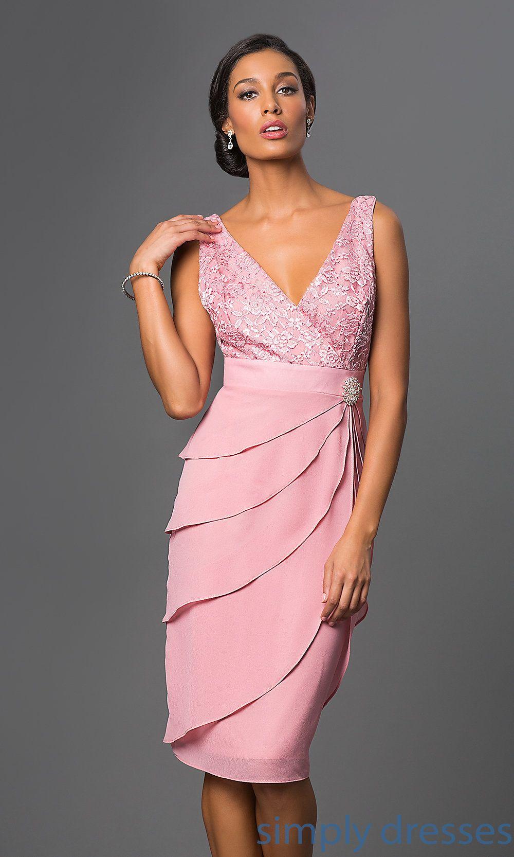 Knee-Length Sally Fashion Dress with Jacket | dresses | Pinterest ...