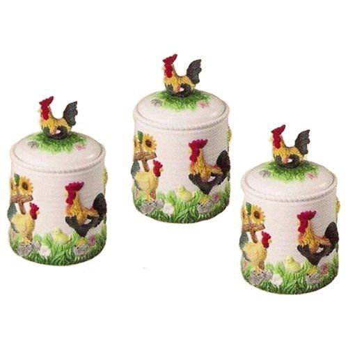 Rooster Canisters Jar Set, Kitchen Decor, Home Decor By