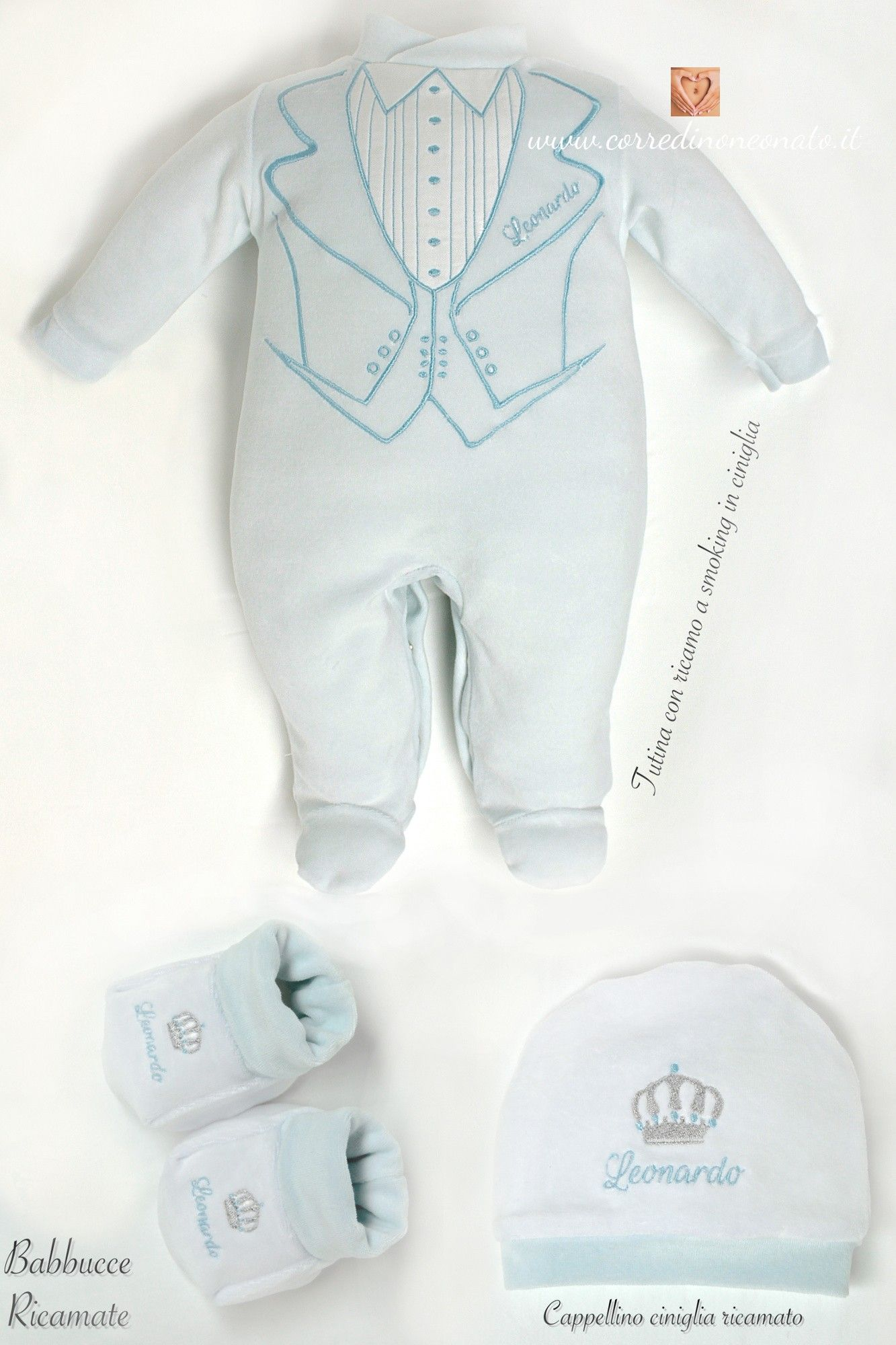 save off wholesale various design tutina nascita Leonardo tema azzurro | leonardo | Tutine ...