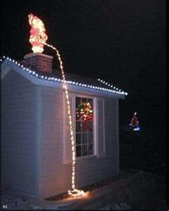 Bad Christmas decorations. Wouldn't do it, but it makes me giggle ...