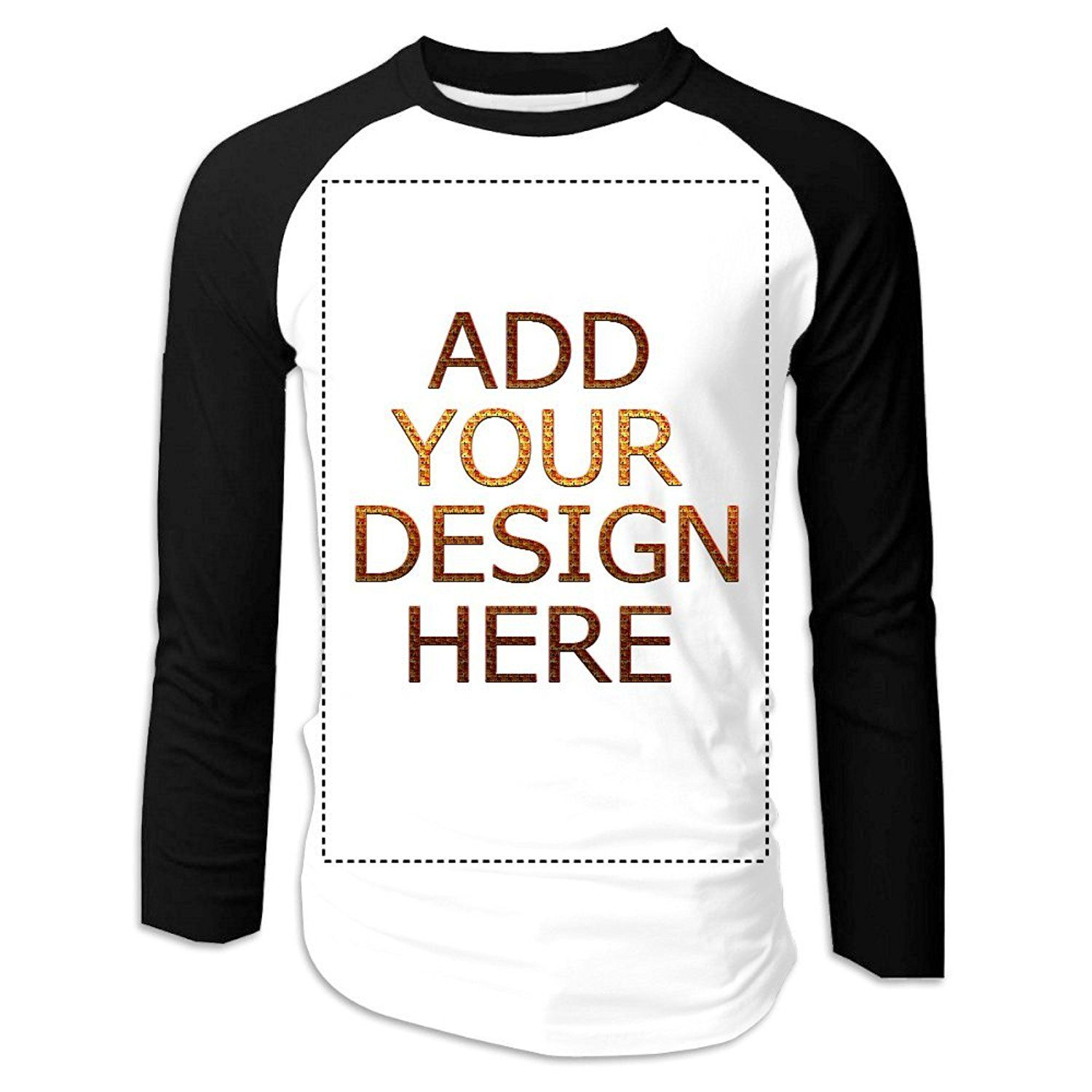 Add Your Own Custom Made Personalized Long Sleeved Raglan Baseball T