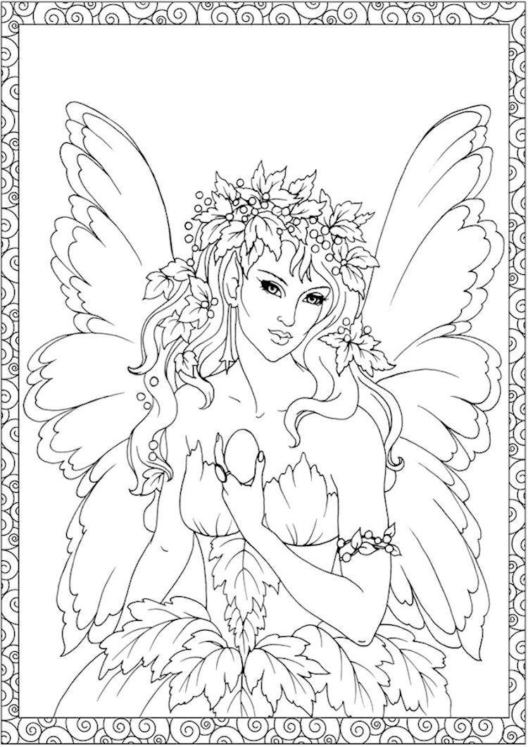 Dover Creative Haven Enchanted Fairies Coloring Page 6 Fairy Coloring Pages Fairy Coloring Book Fairy Coloring [ 1060 x 750 Pixel ]
