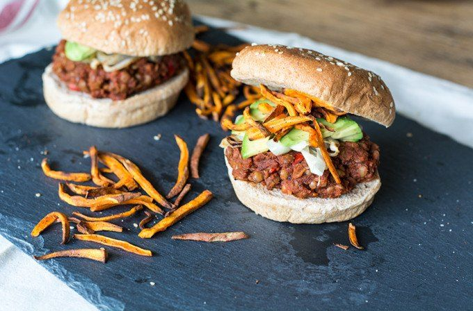 This homemade vegan lentil sloppy joe recipe is quick after you get the lentils cooking which isn't hard, it just takes a little planning in advance.
