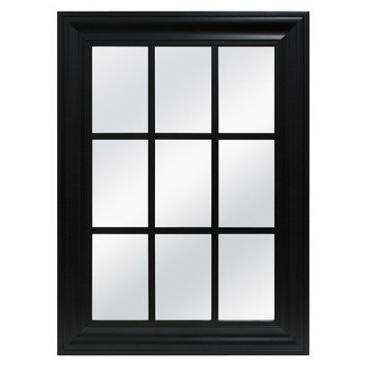 Window Pane MirrorDimensions 22.0 \  H x 30.0 \  W Mirror Dimensions 0.75 \   sc 1 st  Pinterest & Window Pane Mirror Decorative Wall Mirror | Window pane mirror ...