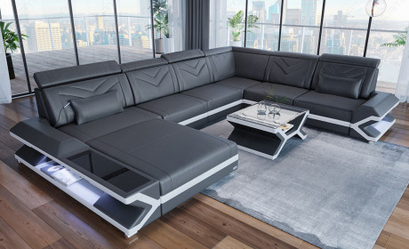 Sectional Leather Sofa San Francisco Xl In 2020 Leather