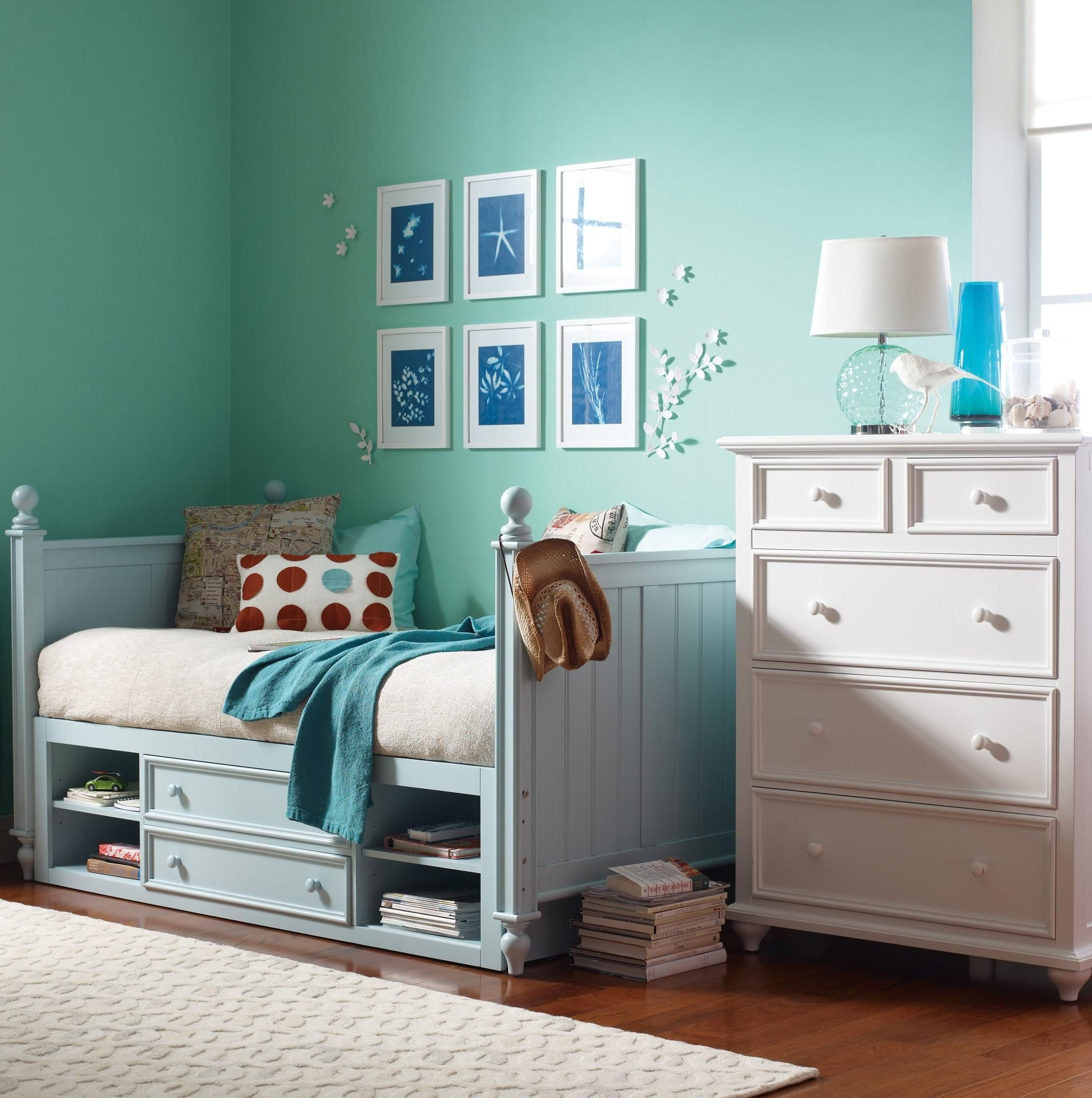 try mixing colors when it comes to kids room furniture. this fun