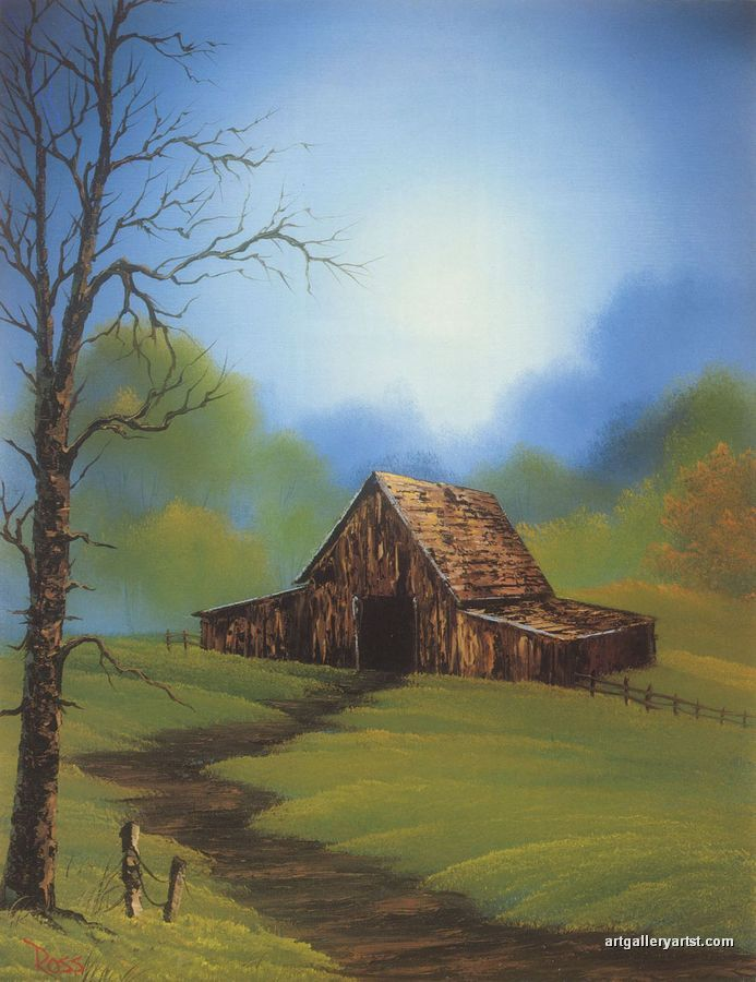 countryside_barn. by Bob Ross | Bob Ross | Pinterest | Landschaften ...