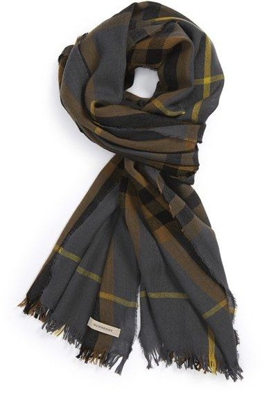 f1cd8a8a74c26 Burberry Check Merino Wool & Cashmere Scarf on shopstyle.com ...