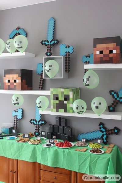 anniversaire minecraft birthday anniversaire d. Black Bedroom Furniture Sets. Home Design Ideas