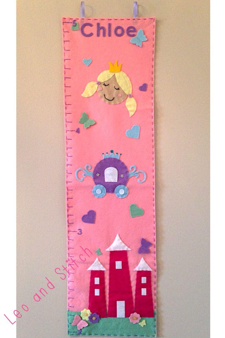 Princess felt height chart
