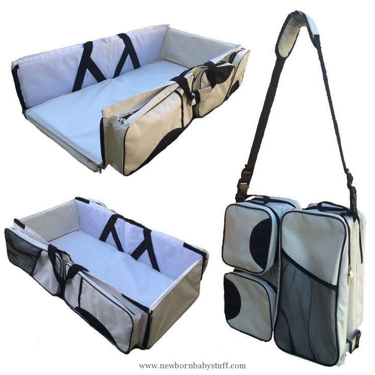 Baby Accessories 3 In 1 Diaper Bag Travel Bassinet Changing Station Foldable