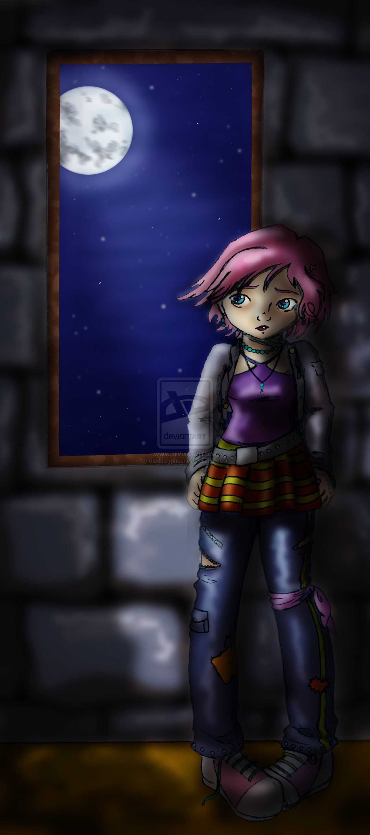 Waiting - colored version by ~thedustyphoenix on deviantART