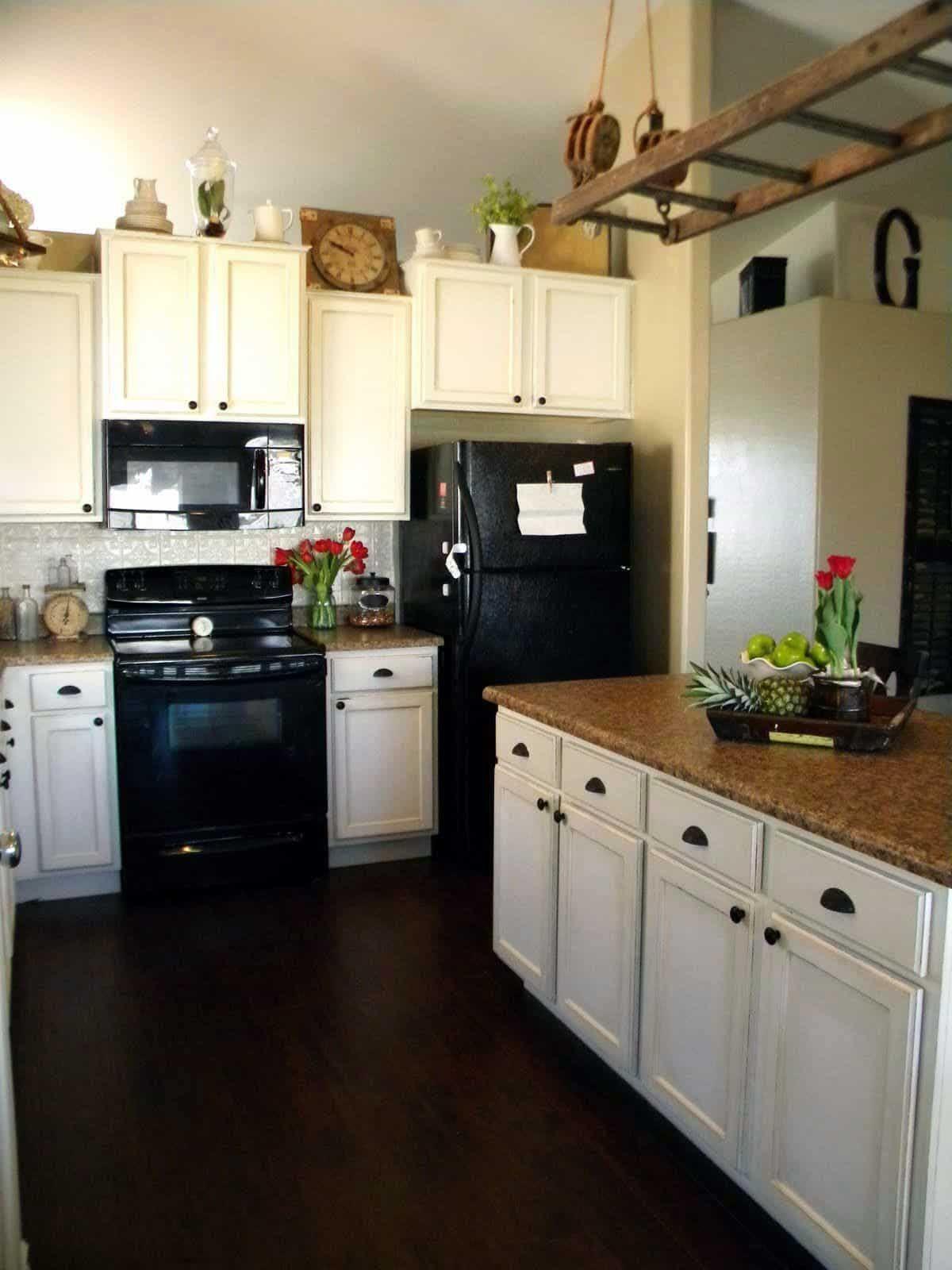50 Popular Wooden Black Kitchens Design   Black appliances ...