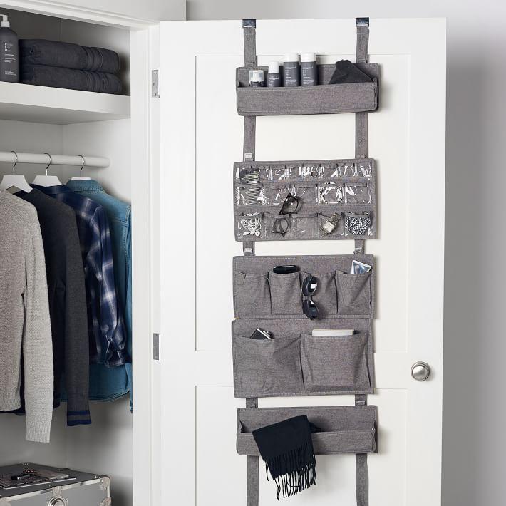 Over The Door Modular Storage In 2020 Dorm Room Storage Dorm Closet Organization Dorm Closet