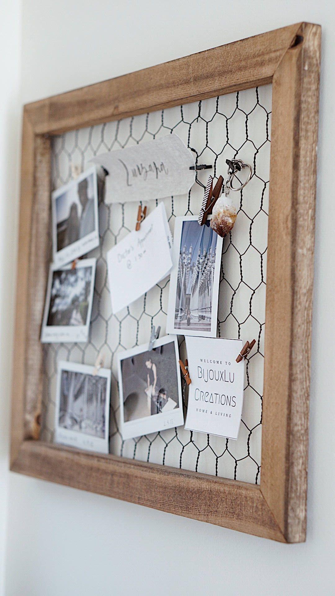 Memo Board/ Girl Workspace / Wire Mesh Memo Board/ Chicken Wire ...