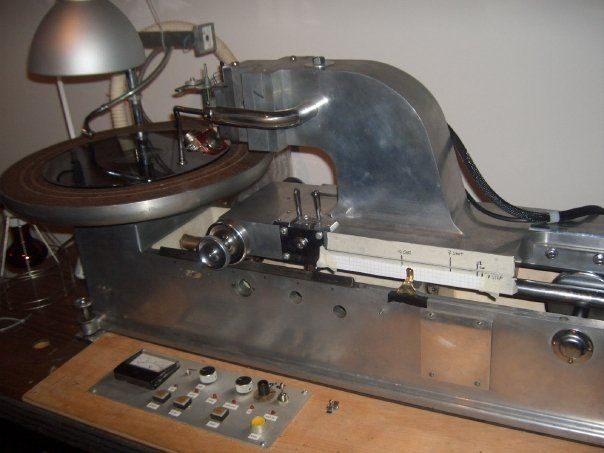 A Beatiful Picture Of The Scully Vinyl Mastering Lathe At