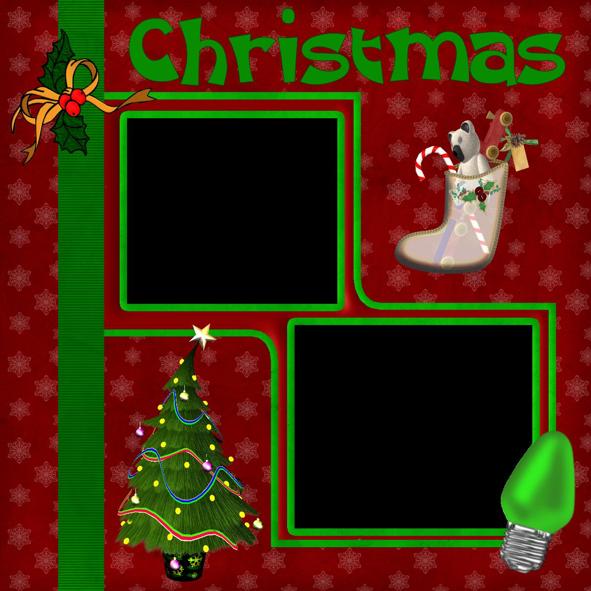 Christmas Scrapbook Layout 1