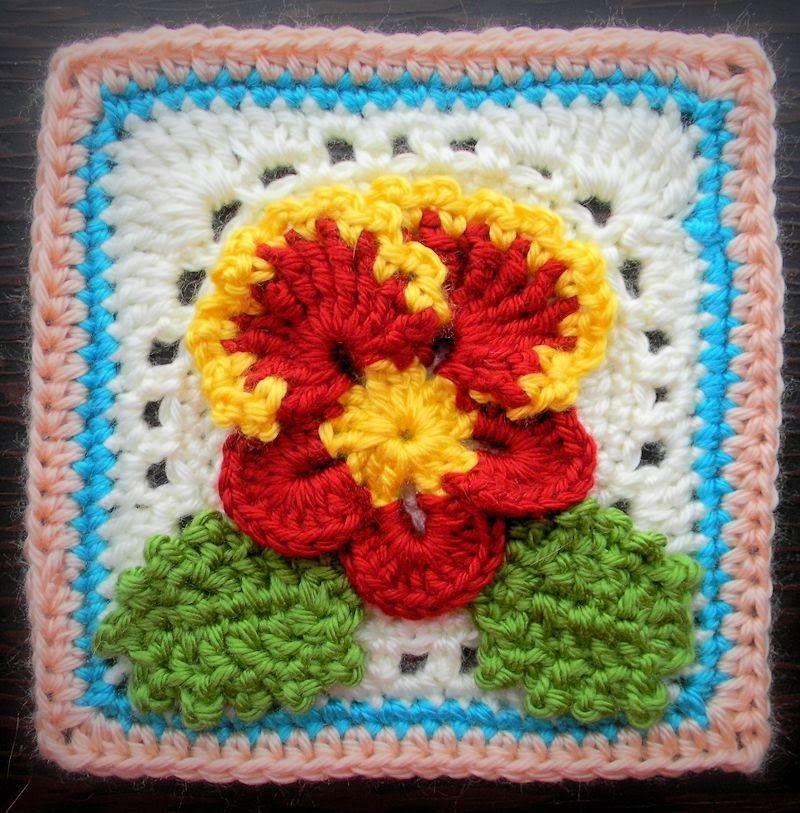 Crochet Pattern - Pansy Granny Square | Crochet stuff | Pinterest