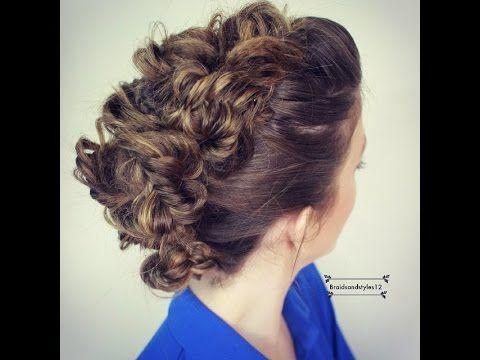 How to : Fishtail Faux Hawk Hair Tutorial | DIY Mohawk Braid Tutorial medium long hair - YouTube
