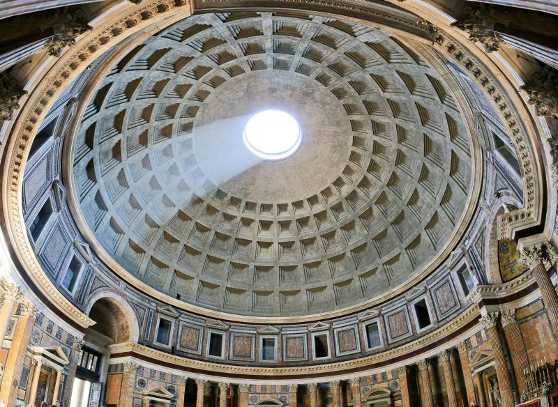 Roman Architecture Domes the pantheon is the world's largest concrete dome & it's 2,000