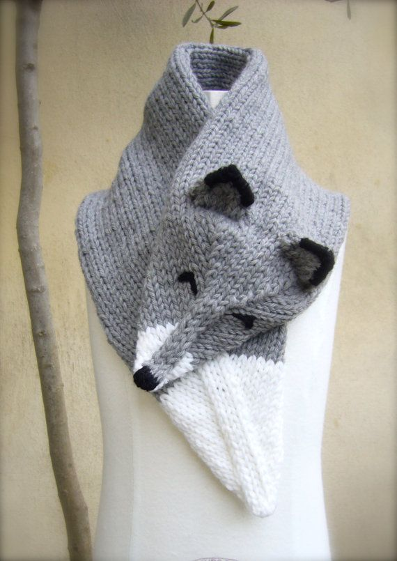 Handknit Wolf Scarf by MissMartok on Etsy, €38.00 | dzianina ...