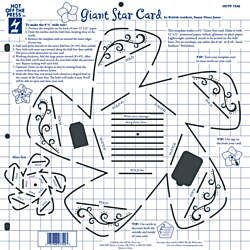 Giant Star Card Template By Hot Off The Press Inc 4007340 Cards Quilling Supplies Card Template