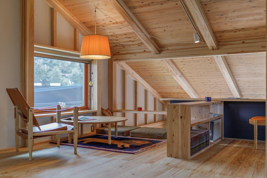 落ち着く屋根裏部屋 福岡 鹿児島で家づくり シンケンスタイル 家
