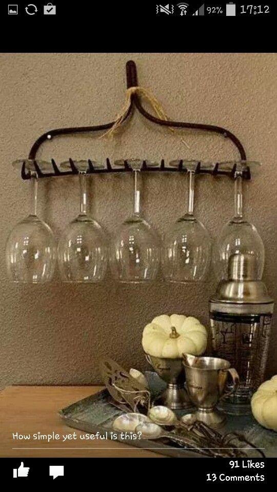 Rake wine rack