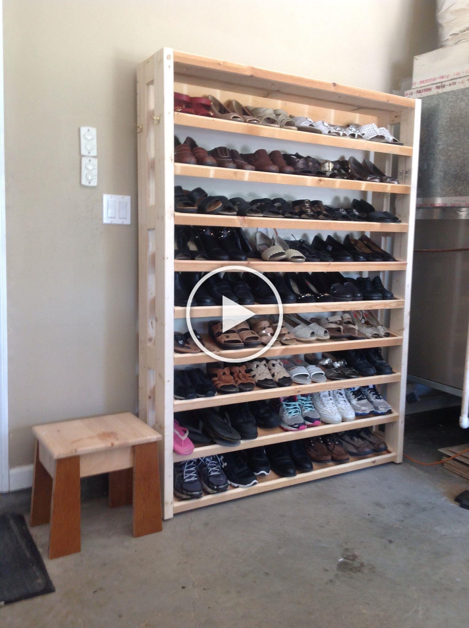 Pin On Garage Shoe Storage